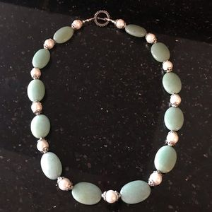 Authentic Vintage Jade and Pearl Necklace ME